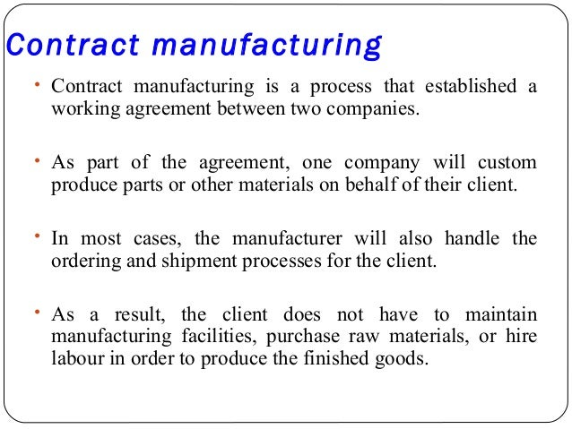 Manufacturing Contract Template   Resume Format Download Pdf