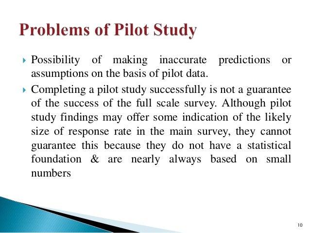how to make pilot study