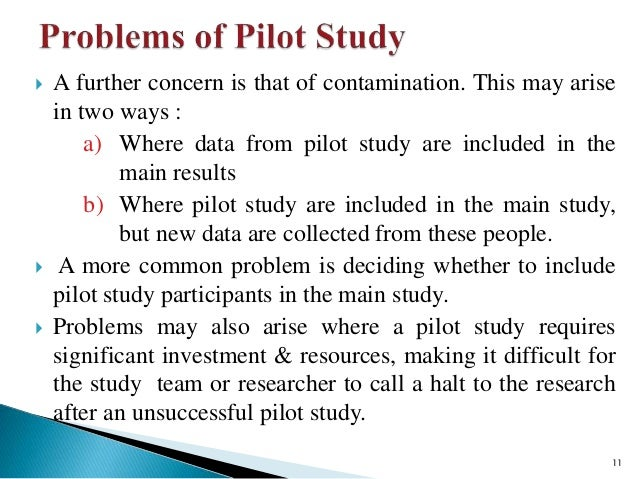 explaining the pilot study in research paper Summary: pilot testing (a session or two before the real test) helps fine-tune usability studies, leading to more reliable results it provides an opportunity to validate the wording of the tasks, understand the time necessary for the session, and, if all goes well, may even supply an additional.