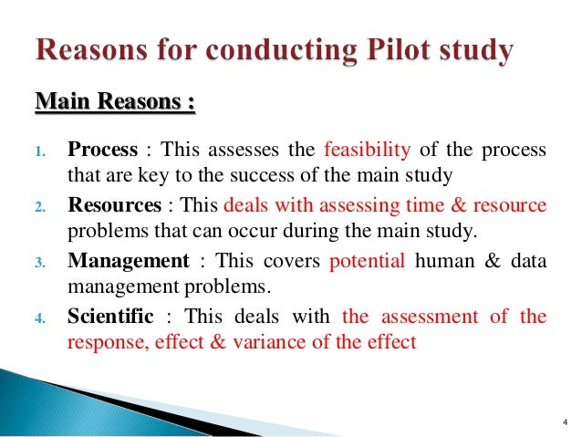 9 Comments on What is a pilot study?