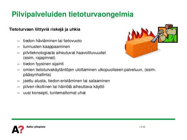 Pilvipalvelut ja tietoturva - 24.5.2011