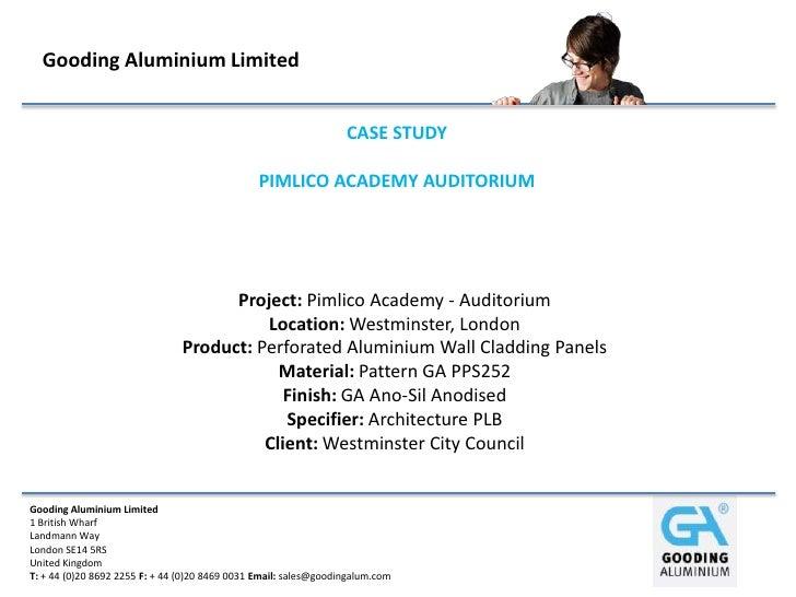 Gooding Aluminium Limited                                                                  CASE STUDY                     ...
