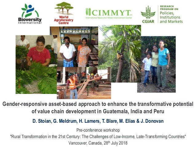 Gender-responsive asset-based approach to enhance the transformative potential of value chain development in Guatemala, In...