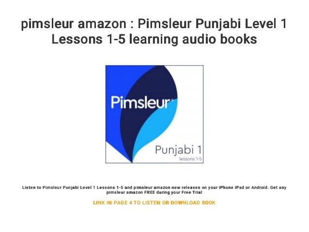 pimsleur amazon : Pimsleur Punjabi Level 1 Lessons 1-5