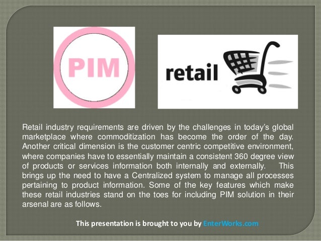 PIM Solutions for Retail to Increase Retail Industry's E-Commerce SalesEffectiveness Slide 2