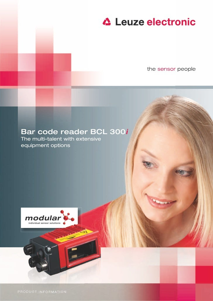 Bar code reader BCL 300i  The multi-talent with extensive  equipment options    modular       individual sensor solutionsP...