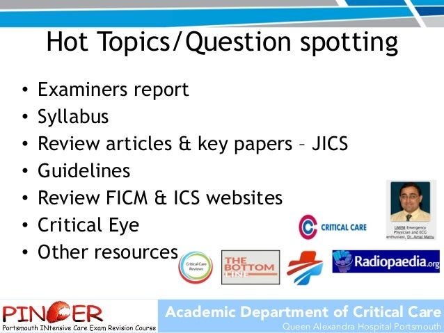 Hot Topics in ICM - PINCER Course 25th sept 2015
