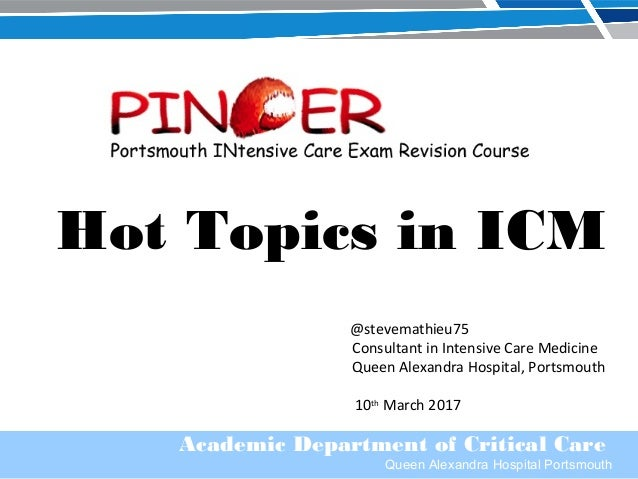 Hot Topics in Critical Care - March 2017