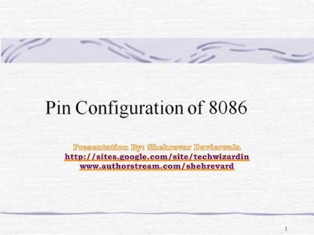 Pin diagram for 8086 mkicroprocessor
