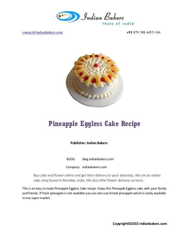 Eggless Upside Down Cake