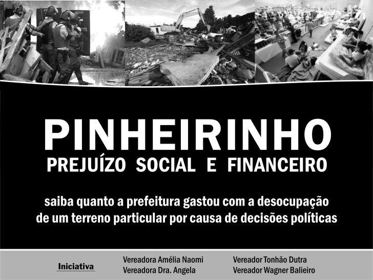 #Cu sto Pinh eirinhoFontes: Portal da transparência da   prefeitura, notas fiscais, ações judiciais, documentos da CâmaraM...