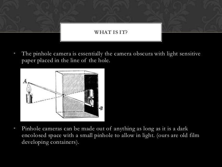 Pinhole cameras Slide 2
