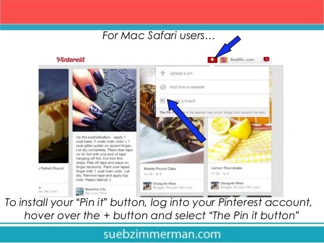 pinterest button for safari mac