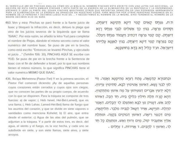 EL VERSICULO 460 DE PINCHAS ANALIZA COMO EN LA BIBLIA EL NOMBRE PINCHAS ESTA ESCRITO CON UNA LETRA IUO ADICIONAL.  LA ADIC...