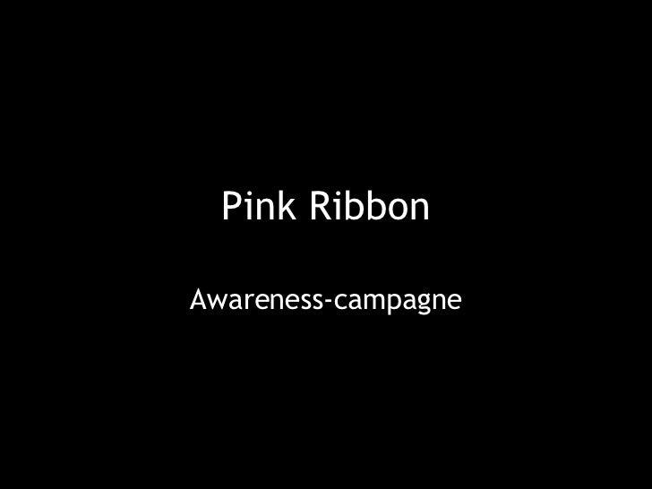 Pink Ribbon Awareness-campagne