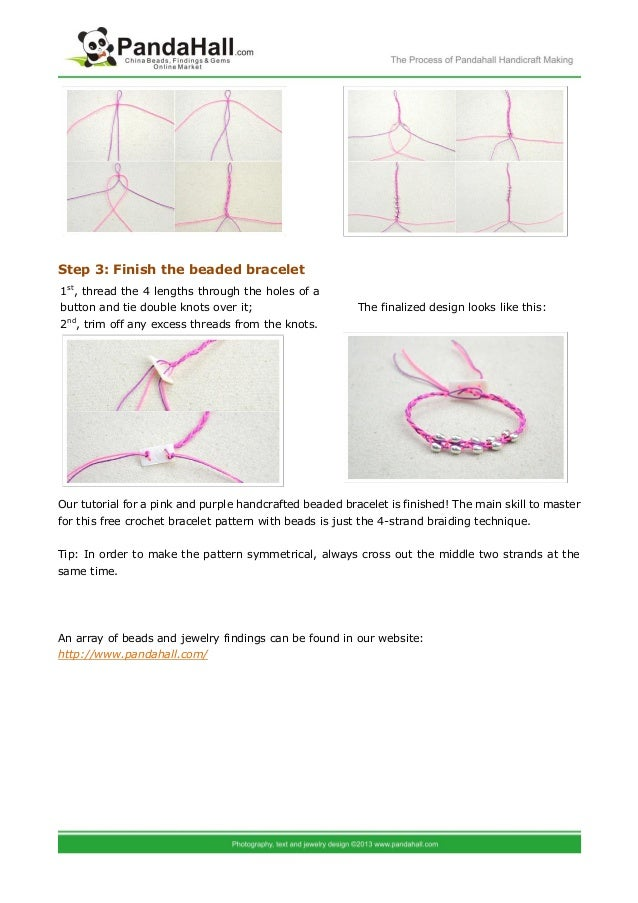Free Crochet Bracelet Pattern With Beads