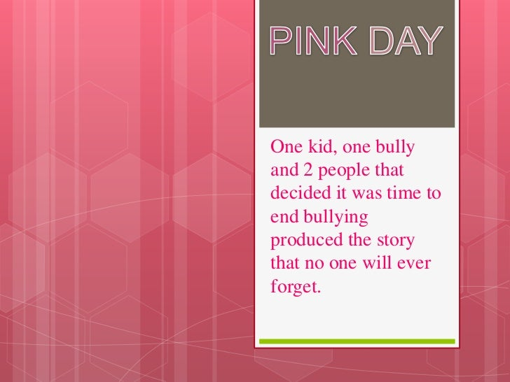 One kid, one bullyand 2 people thatdecided it was time toend bullyingproduced the storythat no one will everforget.