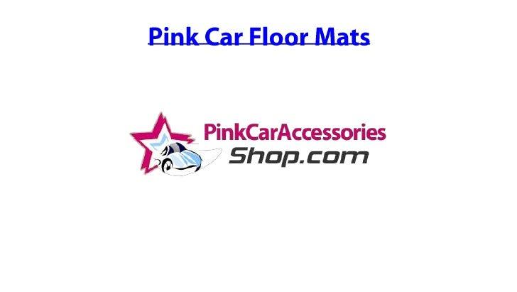 Pink Car Floor Mats<br />