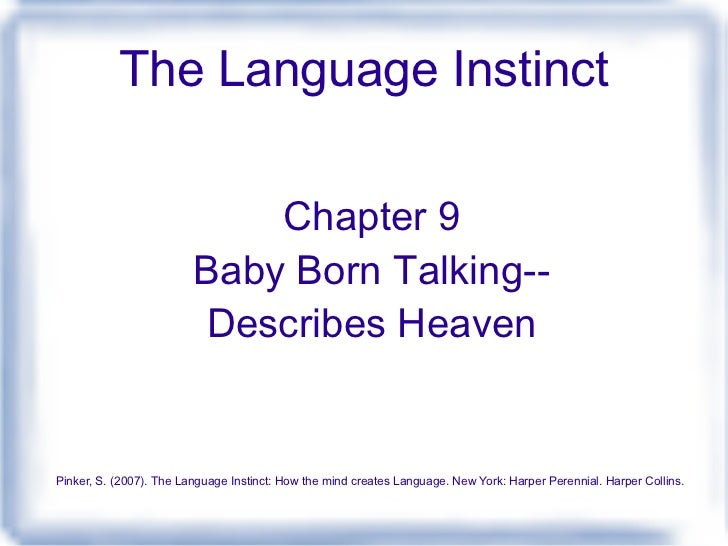 baby born talking describes heaven Heaven is for real: a little boy's astounding story of his trip to heaven and back [todd burpo, lynn vincent] on amazoncom free shipping on qualifying offers a.
