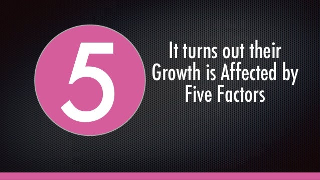 5 It turns out their Growth is Affected by Five Factors