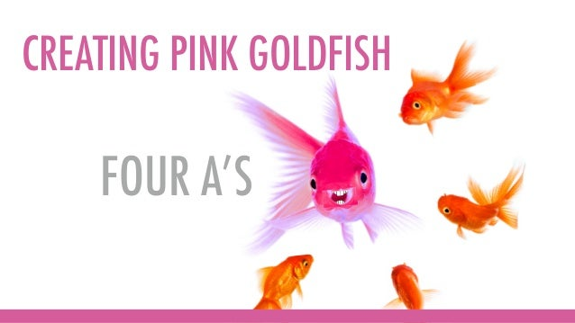 FOUR A'S CREATING PINK GOLDFISH