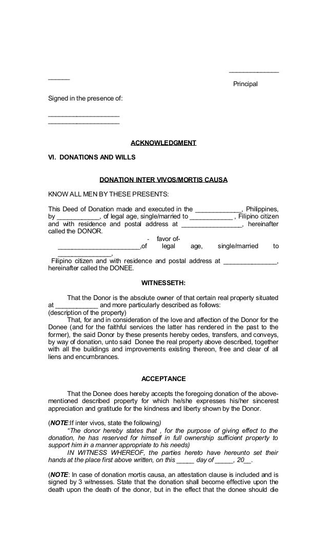 Legal Forms of Philippines – Sample Contract for Deed