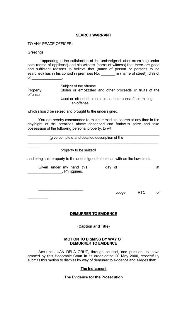 Legal Forms of Philippines – Oath of Office Template