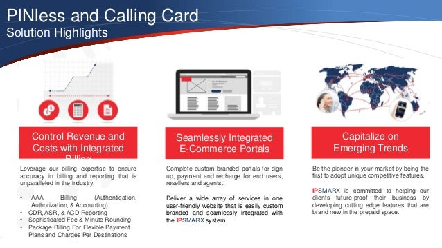 pinless and calling card solution highlights control revenue and costs with integrated - Pinless Calling Card