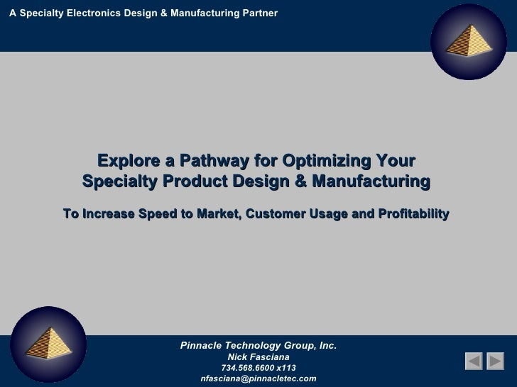 A Specialty Electronics Design & Manufacturing Partner Explore a Pathway for Optimizing Your  Specialty Product Design & M...