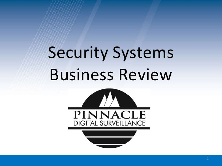 Security Systems Business Review