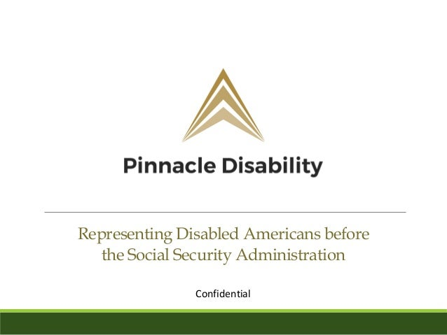 Pinnacle Disability Overview Presentation