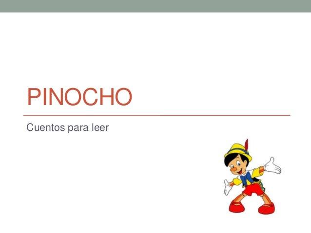 PINOCHO Cuentos para leer