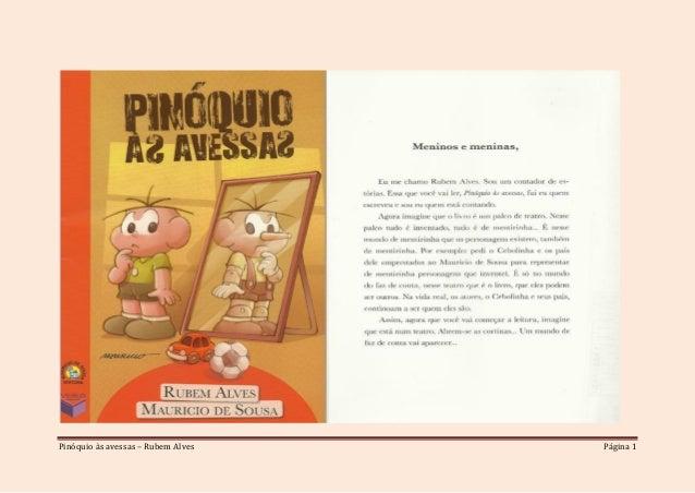 Pinóquio às avessas – Rubem Alves Página 1