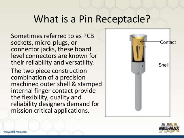 Mill-Max Product Overview - Pin Receptacles