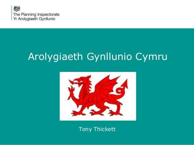 Arolygiaeth Gynllunio Cymru Tony Thickett