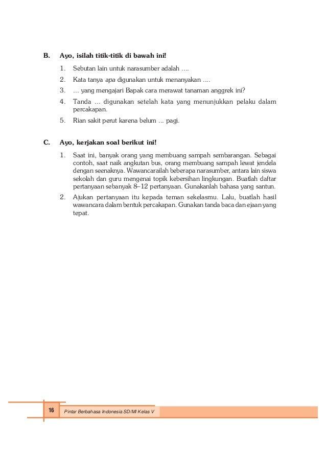 Pintar Berbahasa Indonesia Untuk Kelas 5 Sri Hapsari