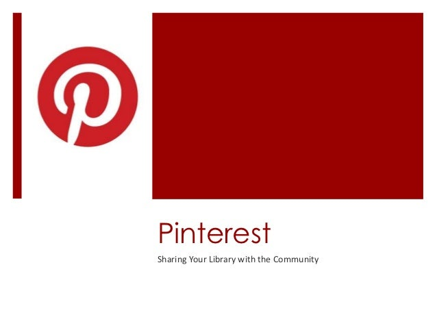PinterestSharing Your Library with the Community