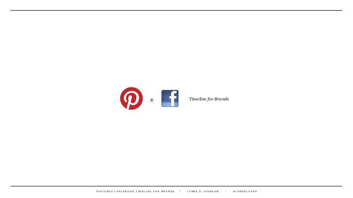&              Timeline for BrandsPINTEREST/FACEBOOK TIMELINE FOR BRANDS   LYNNE D JOHNSON       @LYNNELUVAH