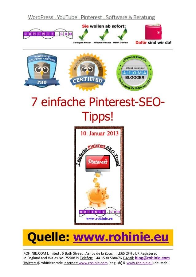 7 einfache Pinterest-SEO-...