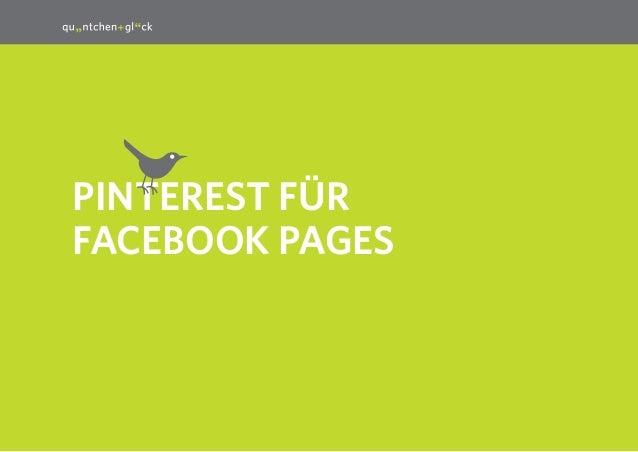 1 PINTEREST für Facebook PageS