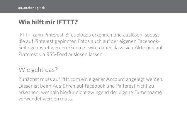 3 IFTTT kann Pinterest-Bilduploads erkennen und auslösen, sodass die auf Pinterest gepinnten Fotos auch auf der eigenen Fa...