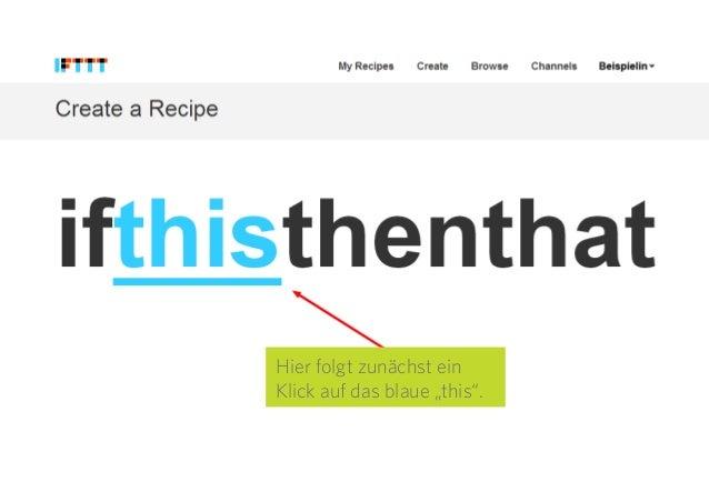 """8 Hier folgt zunächst ein Klick auf das blaue """"this""""."""