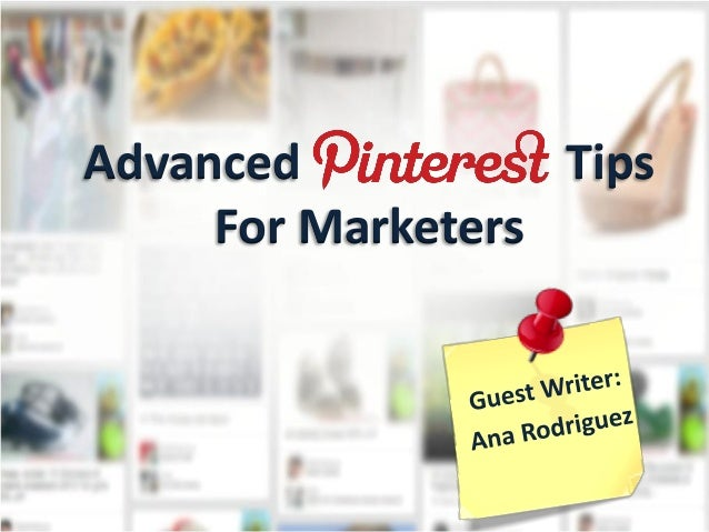Advanced TipsFor Marketers