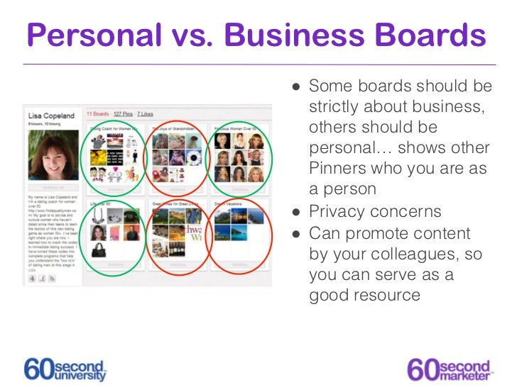 Personal vs. Business Boards                • Some boards should be                    strictly about business,           ...