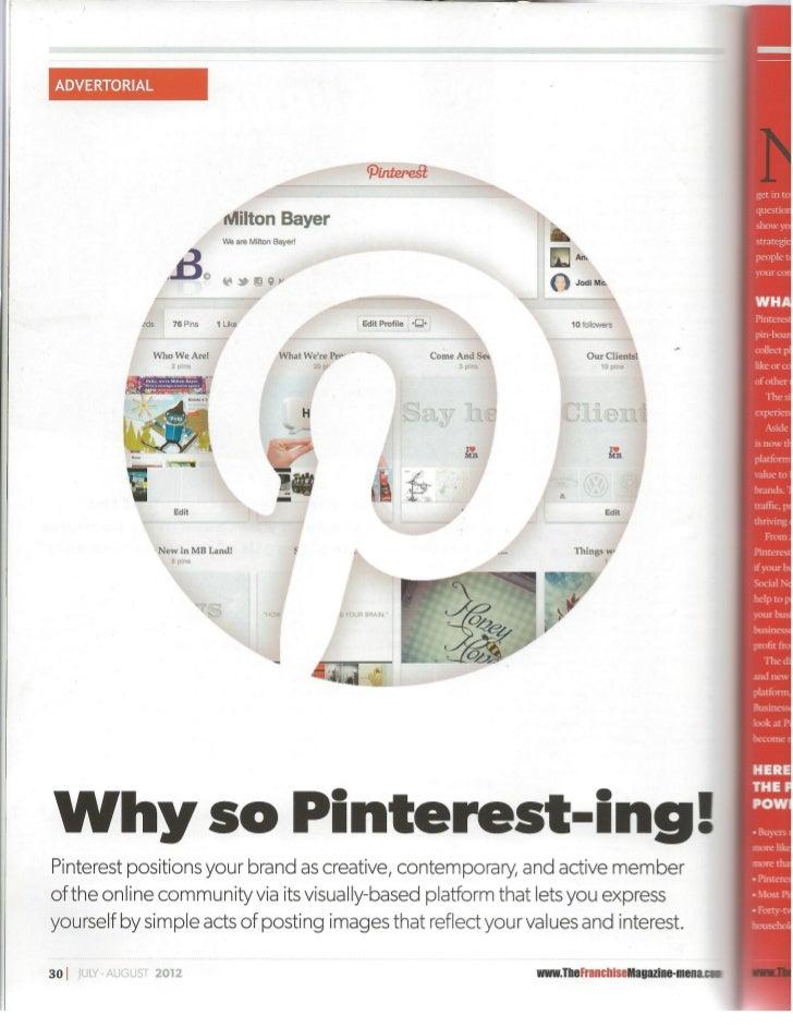 Why So Pinteresting - The Franchise Magazine Mena