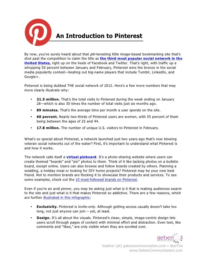 An Introduction to Pinterest!By now, you've surely heard about that pin-teresting little image-based bookmarking site that...