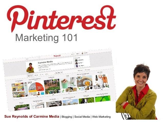Marketing 101 Sue Reynolds of Carmine Media | Blogging | Social Media | Web Marketing