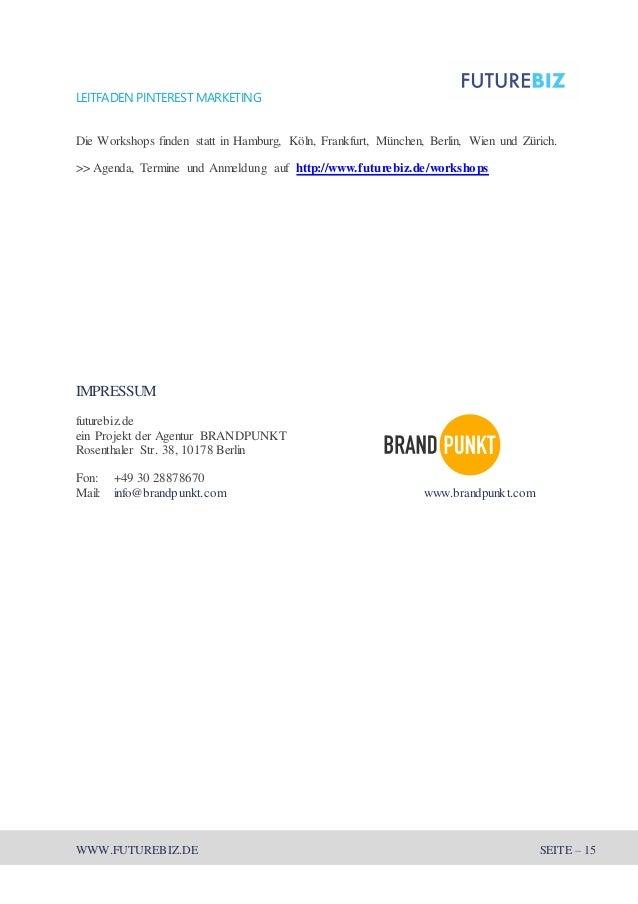 Leitfaden Pinterest Marketing 2014