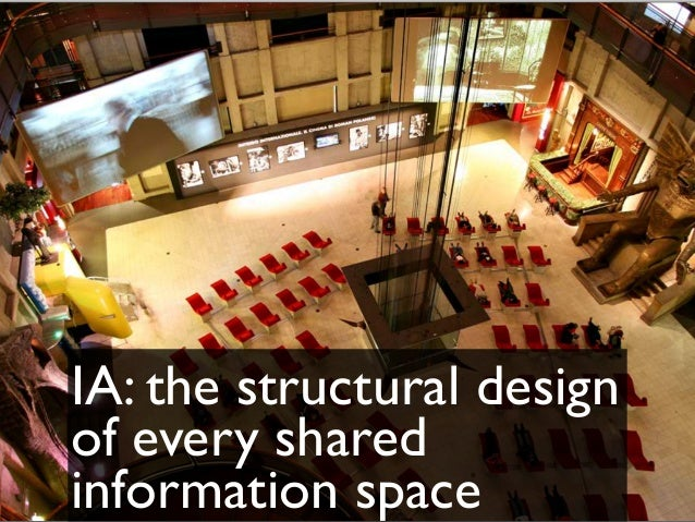IA: the structural design of every shared information space