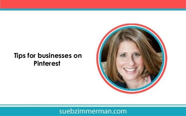 Tips for businesses on Pinterest